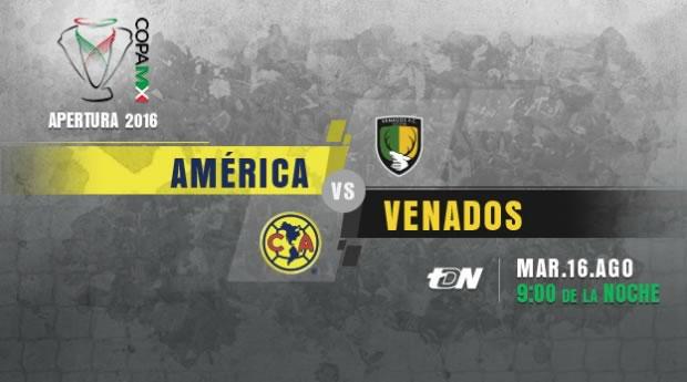 América vs Venados, J4 de la Copa MX A2016 | Resultado: 2-0 - america-vs-venados-en-vivo-copa-mx-apertura-2016