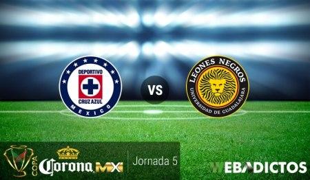 Cruz Azul vs Leones Negros UDG, Copa MX A2016 | Resultado: 3-1