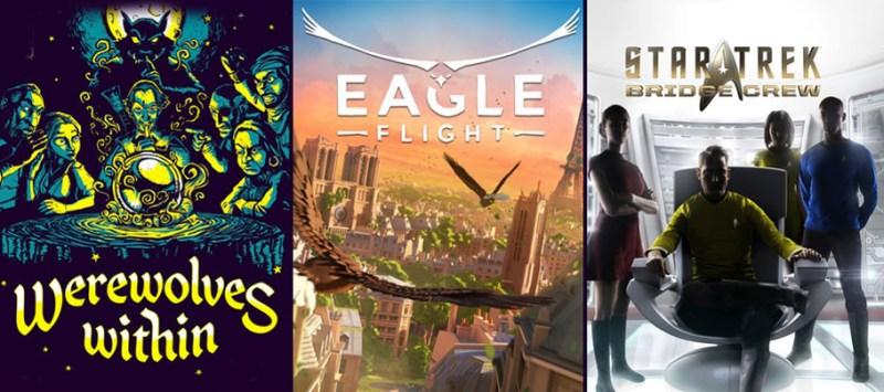 Ubisoft anuncia las fechas de estreno de sus juegos de realidad Virtual - eagle-flight-werewolves-within-star-trek-bridge-crew-800x355