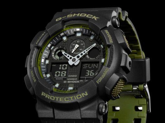 GA100L Military Color Series, nueva colección de relojes G-Shock - ga-100l-1a_01