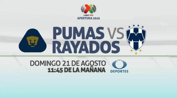 Pumas vs Monterrey, Liga MX Apertura 2016 | Resultado: 5-3 - pumas-vs-monterrey-en-vivo-apertura-2016-j6