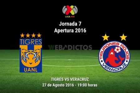 Tigres vs Veracruz, Fecha 7 del Apertura 2016 | Resultado: 1-1