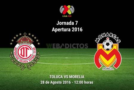 Toluca vs Morelia, Jornada 7 del Apertura 2016 | Resultado: 2-2