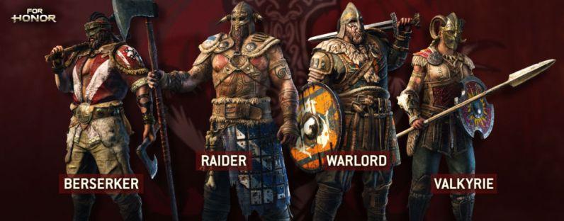 For Honor revela su alineación completa de héroes y modos multijugador - vikings_ubisoft-for-honor-1