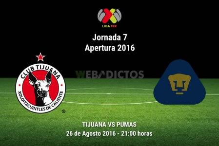 Xolos de Tijuana vs Pumas, J7 del Apertura 2016 ¡En vivo por internet!