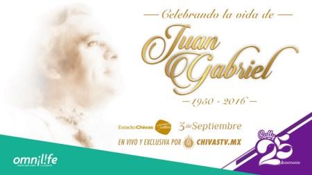 Concierto de homenaje a Juan Gabriel en vivo por Chivas TV ¡gratis!