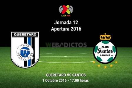 Querétaro vs Santos, Jornada 12 del Apertura 2016 ¡En vivo por internet!
