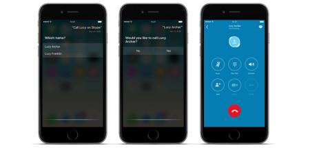Skype para iOS ahora añade comandos para Siri