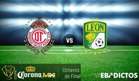 Toluca vs León, Octavos de Copa MX Apertura 2016 ¡En vivo por internet!