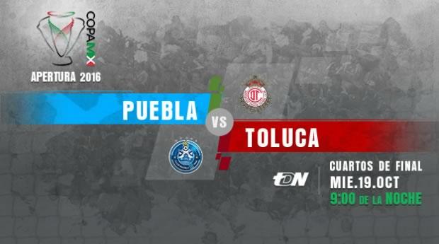 Puebla vs Toluca, Copa MX Apertura 2016   Resultado: 0-2 - puebla-vs-toluca-por-internet-copa-mx-apertura-2016