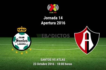Santos vs Atlas, Jornada 14 Apertura 2016 | Resultado: 2-2