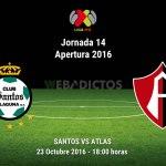 Santos vs Atlas, Jornada 14 de la Liga MX ¡En vivo por internet! | Apertura 2016