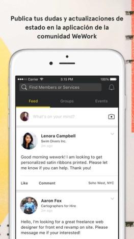 App WeWork: conecta con más de 70 mil emprendedores y freelancers alrededor del mundo - aplicacion-de-wework_2