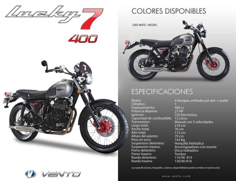 Vento presenta la nueva motocicleta Lucky7 400 Café Racer - lucky7-400-cafe-racer-800x614