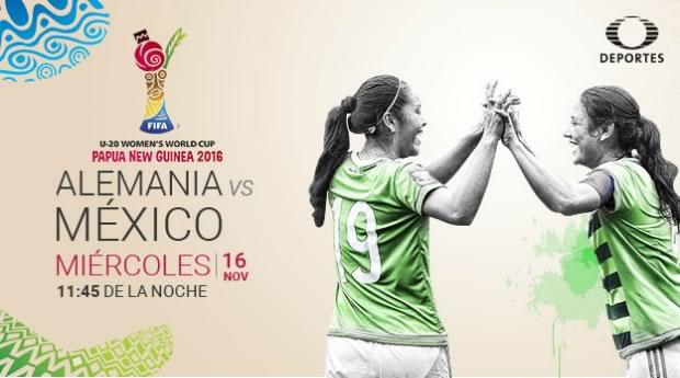 México vs Alemania, Mundial Femenil Sub 20 2016 | Resultado: 0-3 - mexico-vs-alemania-femenil-sub-20-televisa-deportes