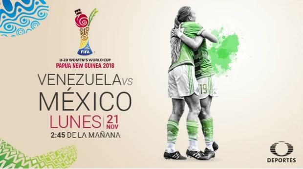 México vs Venezuela, Mundial Femenil Sub 20 2016 | Resultado: 3-2 - mexico-vs-venezuela-femenil-sub-20-televisa