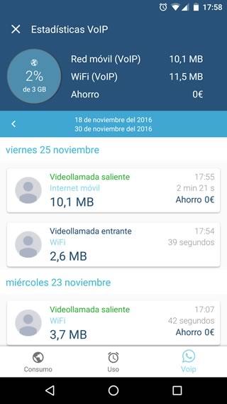 WePlan ya muestra el consumo de datos de las videollamadas de WhatsApp - video-llamadas-whatsapp-weplan