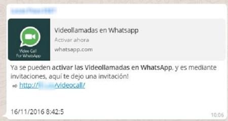 Usan videollamadas de WhatsApp como anzuelo