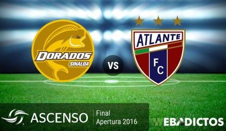 Dorados vs Atlante, Final del Ascenso MX A2016 ¡En vivo por internet!