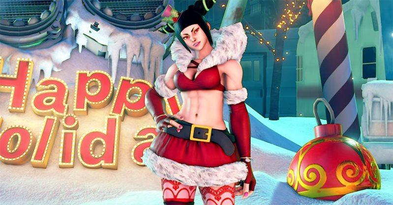 Street Fighter V recibe una actualización muy navideña - juri_holiday