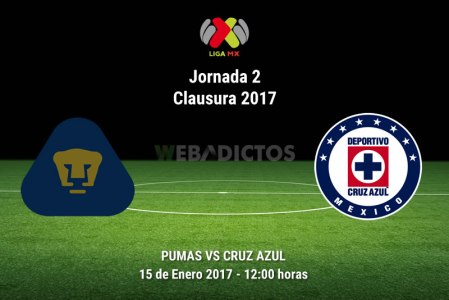 Pumas vs Cruz Azul, Jornada 2 Clausura 2017 | Resultado: 1-0
