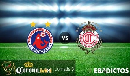 Veracruz vs Toluca, Jornada 3 Copa MX C2017 ¡En vivo por internet!