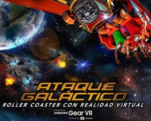 Six Flags y Samsung México anuncian la primer experiencia en el mundo de Realidad Aumentada - ataque-galactico
