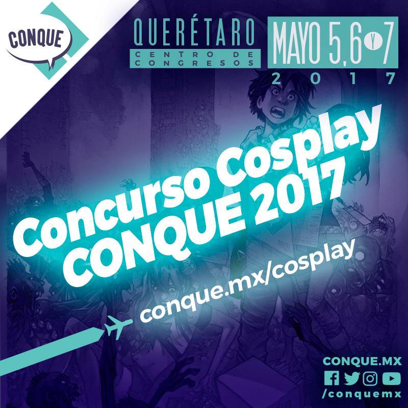 Anuncian convocatoria para Concurso Cosplay CONQUE 2017 - concurso-cosplay-conque