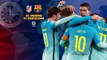 A qué hora juega Barcelona vs Atlético Madrid en la J24 de La Liga 2017