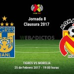 Tigres vs Morelia, Jornada 8 del Clausura 2017 ¡En vivo por internet!