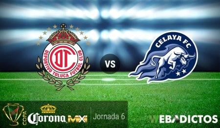 Toluca vs Celaya, J6 de la Copa MX Clausura 2017 ¡En vivo por internet!
