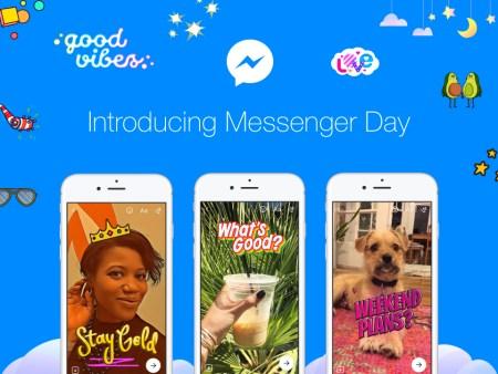 Facebook Messenger Day o cómo la red social quiere pisarle (más) los talones a Snapchat