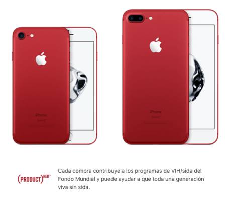 Lanzamiento del  iPhone 7 y Plus (PRODUCT) RED en AT&T