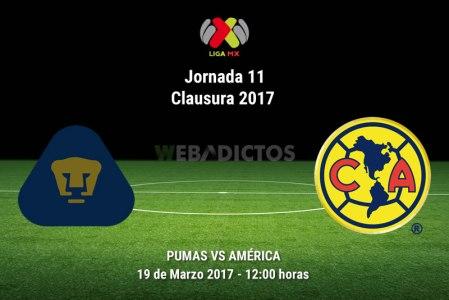 Pumas vs América, Jornada 11 del Clausura 2017 | Resultado: 2-3