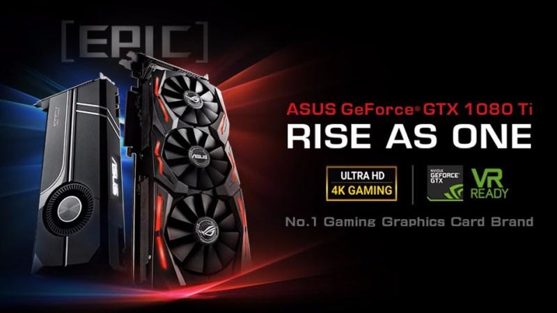 ASUS Anuncia las tarjetas gráficas ROG Strix y Turbo GeForce GTX 1080 Ti