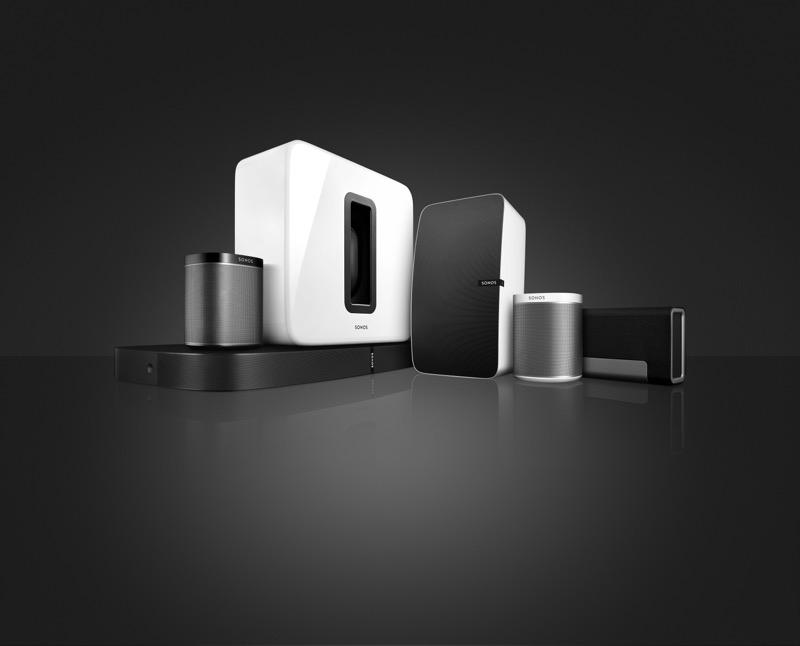 Sonos presenta sistema inalámbrico de sonido multi-habitación: PLAYBASE - sonos_productfamily_b_w-800x646