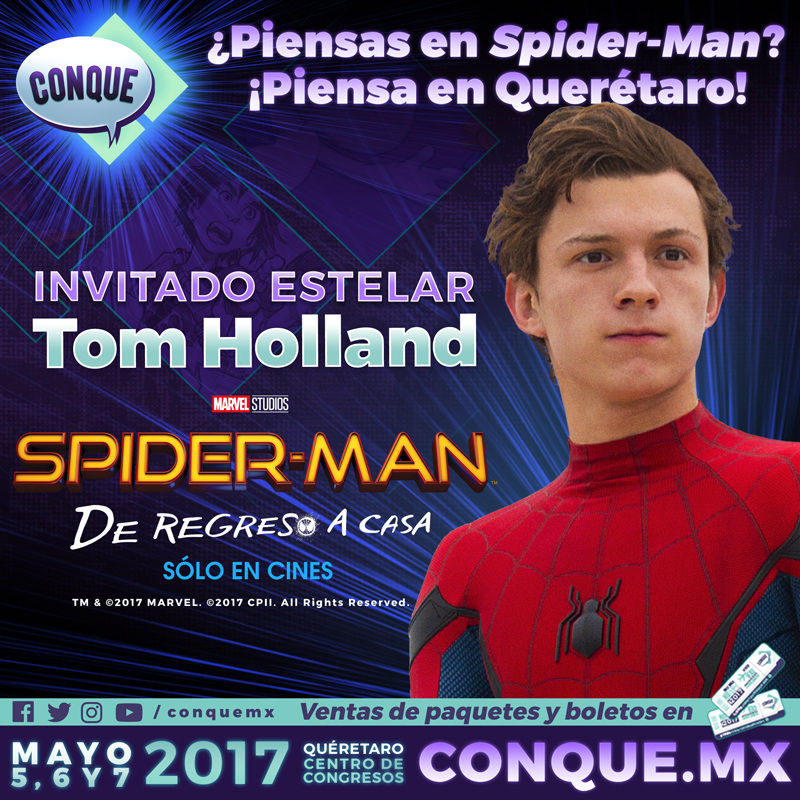 tom holland protagonista de spider man en conque 2017 Tom Holland, protagonista de Spider Man en CONQUE 2017