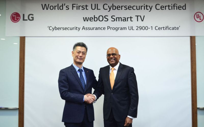 LG webOS 3.5, primera plataforma de smart tv certificada en materia de ciberseguridad - webos-ul-certification-800x497