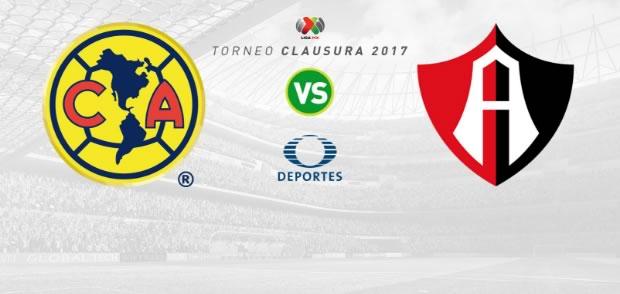 america vs atlas clausura 2017 en vivo América vs Atlas, J16 de la Liga MX C2017 | Resultado: 1 2