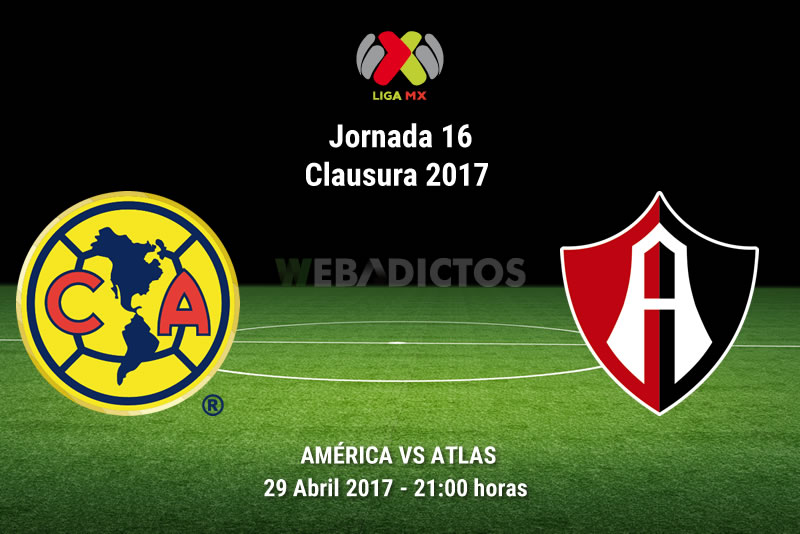 america vs atlas j16 clausura 2017 América vs Atlas, J16 de la Liga MX C2017 | Resultado: 1 2