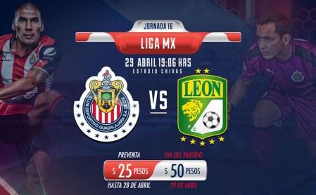 Chivas vs León, Jornada 16 Liga MX Clausura 2017 | Resultado: 1-1