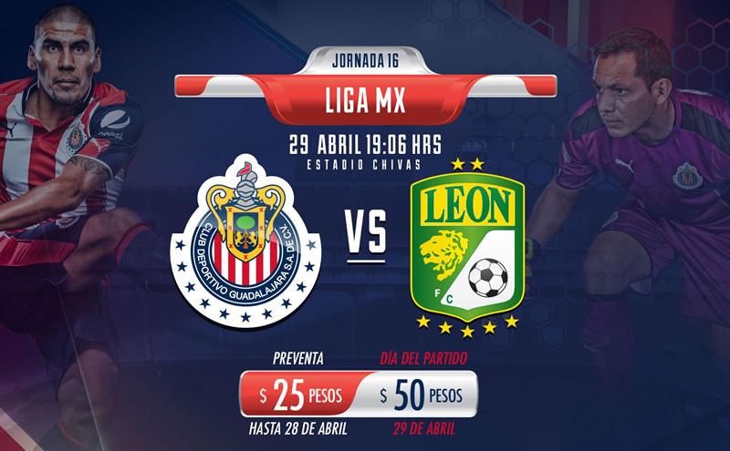 Chivas vs León, Jornada 16 Liga MX Clausura 2017 | Resultado: 1-1 - chivas-vs-leon-chivas-tv