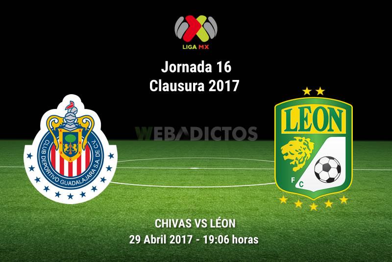 Chivas vs León, Jornada 16 Liga MX Clausura 2017   Resultado: 1-1 - chivas-vs-leon-j16-clausura-2017