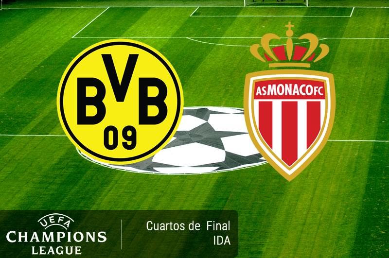 Dortmund vs Monaco, Champions 2017 ¡En vivo por internet!   Cuartos de Final - dortmund-vs-monaco-cuartos-champions-2017