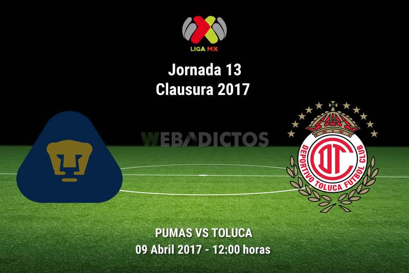 Pumas vs Toluca, Jornada 13 Liga MX Clausura 2017 | Resultado: 0-1 - pumas-vs-toluca-j13-clausura-2017