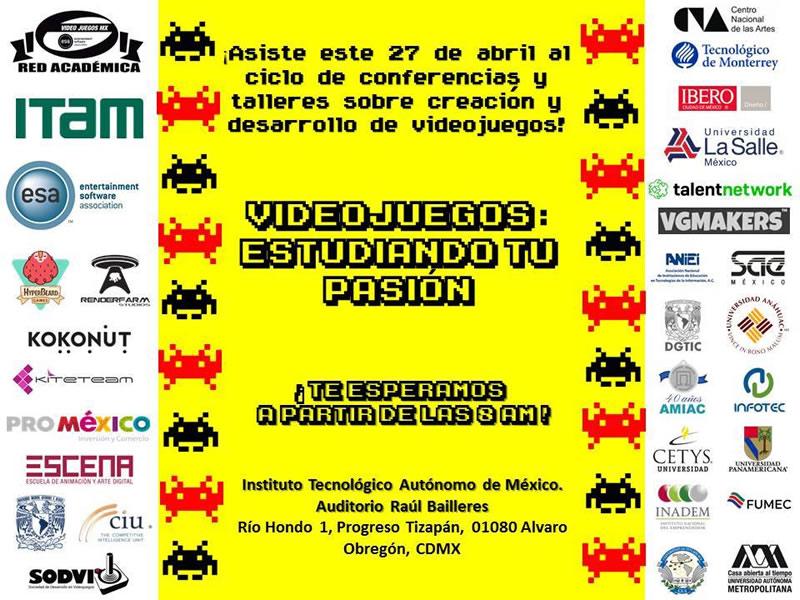 """La Red Académica de Videojuegos MX realiza su primer ciclo de conferencias y talleres: """"Videojuegos: Estudiando tu Pasión"""" - red-academica-de-videojuegos-mx"""