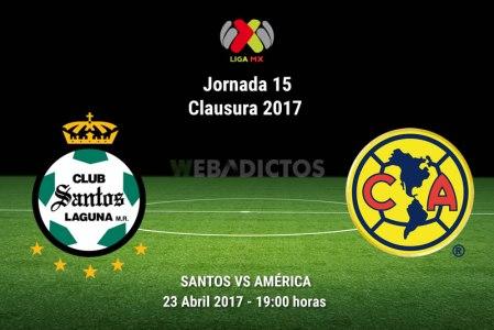 Santos vs América, J15 de la Liga MX C2017 ¡En vivo por internet!
