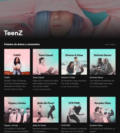 TeenZ: Una categoría dedicada a la Generación Z en Spotify