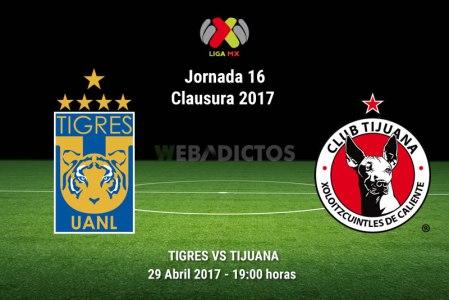 Tigres vs Tijuana, J16 de la Liga MX C2017 | Resultado: 3-0