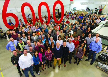 Canon anuncia la venta de la impresora número 6000 Océ Arizona